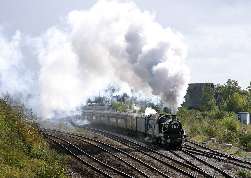 5029/4492 (60019), 06.52 London Euston-Plymouth, The Mayflower, Taunton 40 Steps Bridge, 17-9-11.