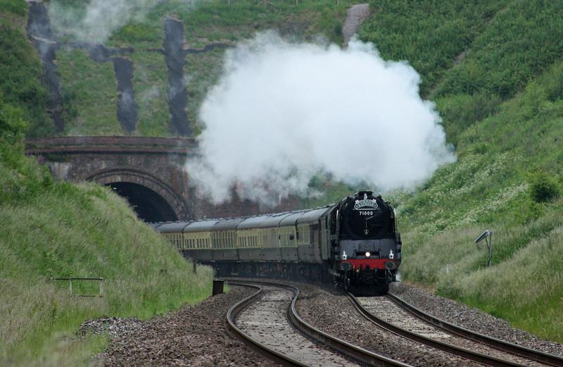 71000/47815, 16.42 Kingswear-Bristol Temple Meads, Torbay Express, Marlands, near Wellington, 5-6-11.