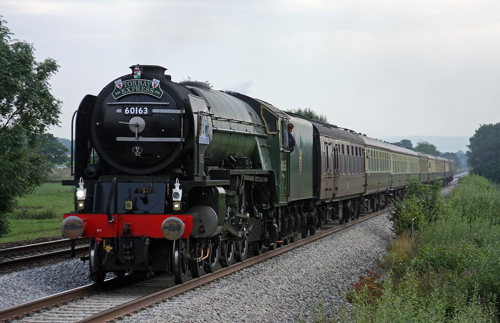 60163, 16.45 Kingswear-Bristol Temple Meads, Torbay Express, Pugham Crossing, near Burlescombe, 31-7-11.