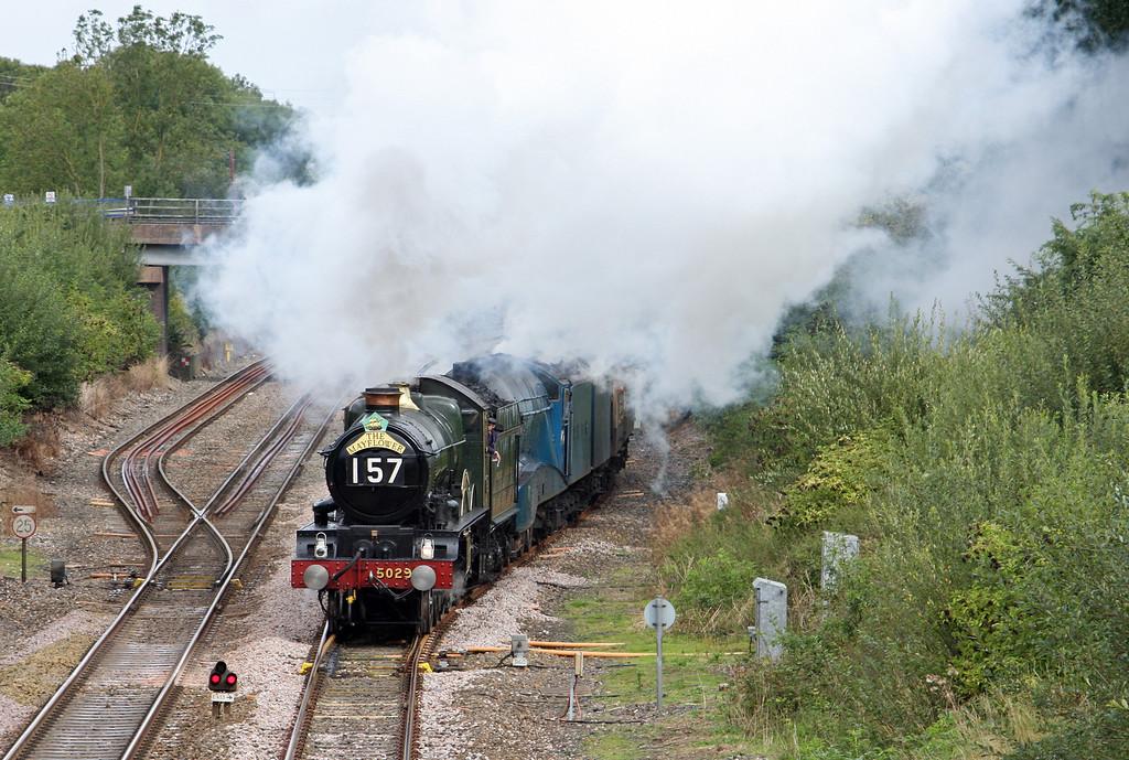 5029/4492 (60019), 06.52 London Euston-Plymouth, The Mayflower, departing Tiverton Loops, 17-9-11.
