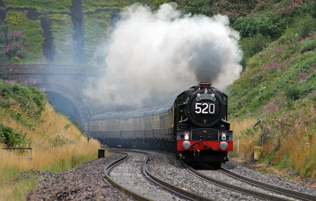 6024, 16.45 Kingswear-Bristol Temple Meads,  Torbay Express, Marlands, near Wellington, 7-8-11.