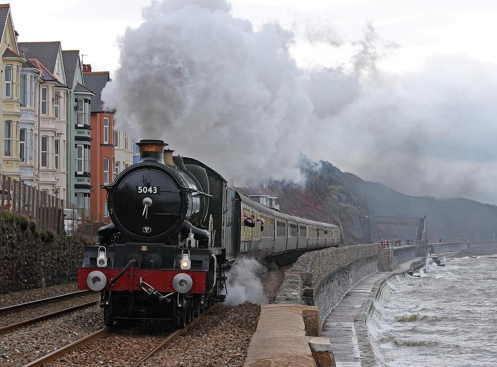 5043, 06.50 Tyseley Steam Trust-Plymouth-Tyseley Steam Trust, The Cornishman, Dawlish, 28-4-12, 5043 working Bristol Temple Meads-Plymouth-Bristol Temple Meads legs.