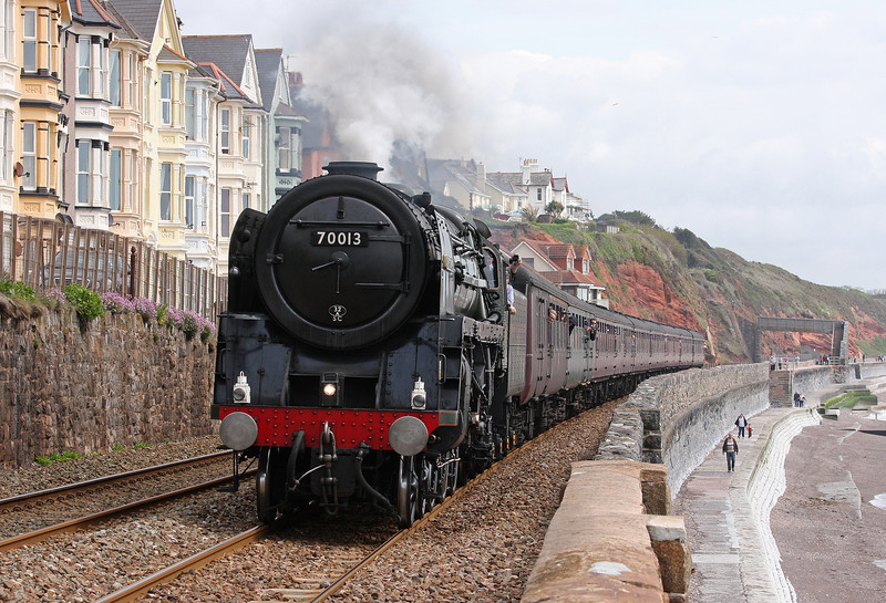 70013, 08.48 Bristol Temple Meads-Par, The Cornishman, Dawlish, 19-5-12.