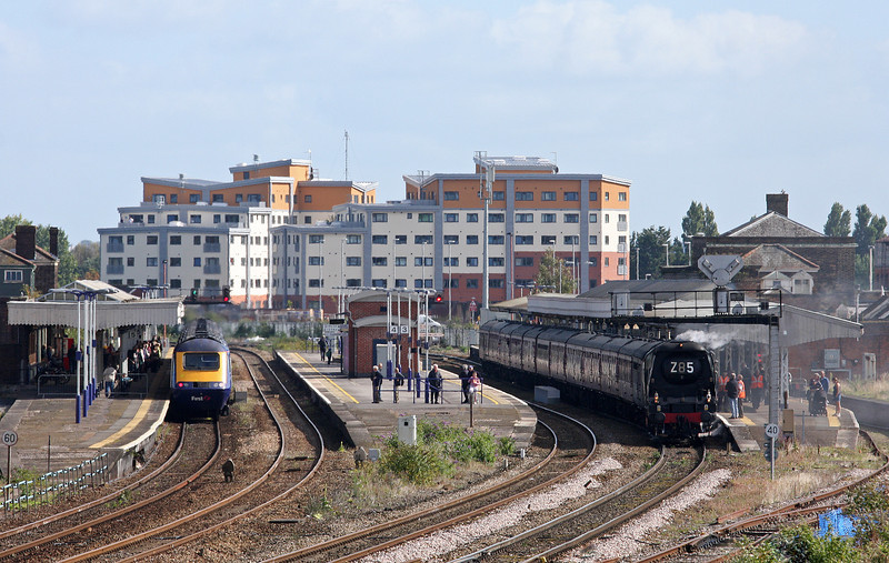34067, 08.05 London Paddington-Minehead, West Somerset Steam Express, Taunton, 29-9-12. HST, 11.54 Exeter St David's-London Paddington.