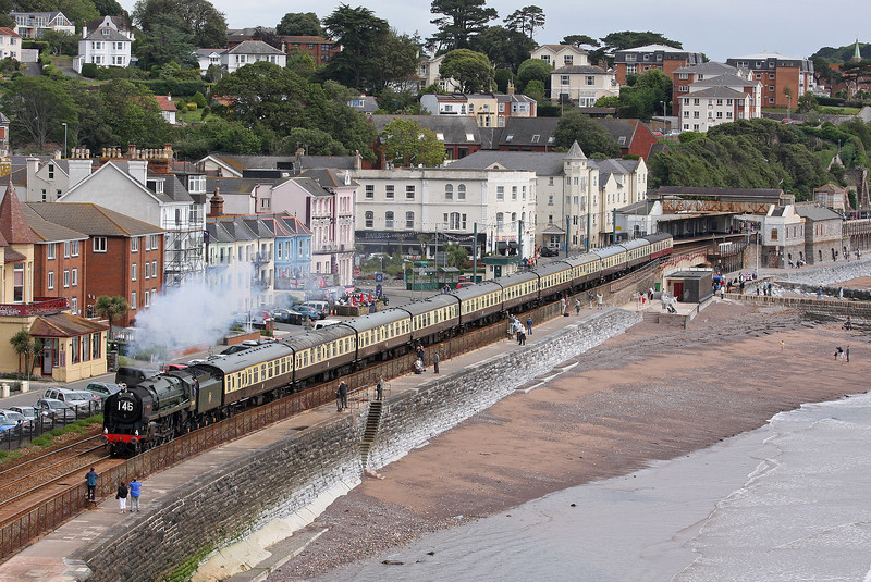 70000, 09.15 Bristol Temple Meads-Kingswear, Torbay Express, Dawlish, 1-7-12.