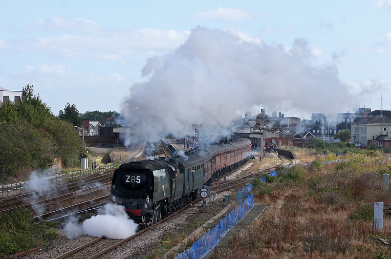 34067, 08.05 London Paddington-Minehead, West Somerset Steam Express, Taunton, 29-9-12.