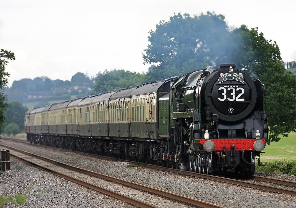 70000, 09.15 Bristol Temple Meads-Kingswear,  Torbay Express, Pugham Crossing, near Burlescombe, 15-7-12.