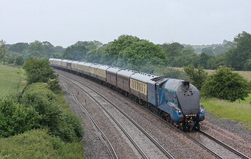 4464, 08.03 London  Victoria-Minehead, The Cathedrals Express, Creech St Michael, near Taunton, 21-6-12.