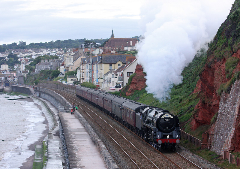 70013, 17.45 Par-Bristol Temple Meads, The Royal Duchy, Dawlish, 12-8-12.