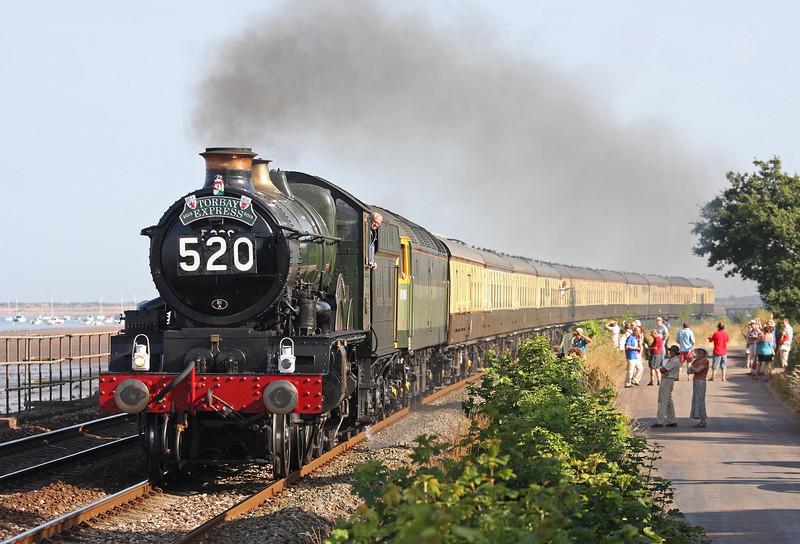 5029/47812, 16.50 Kingswear-Bristol Temple Meads-Kingswear, Torbay Express, Powderham, near Starcross, 14-7-13.