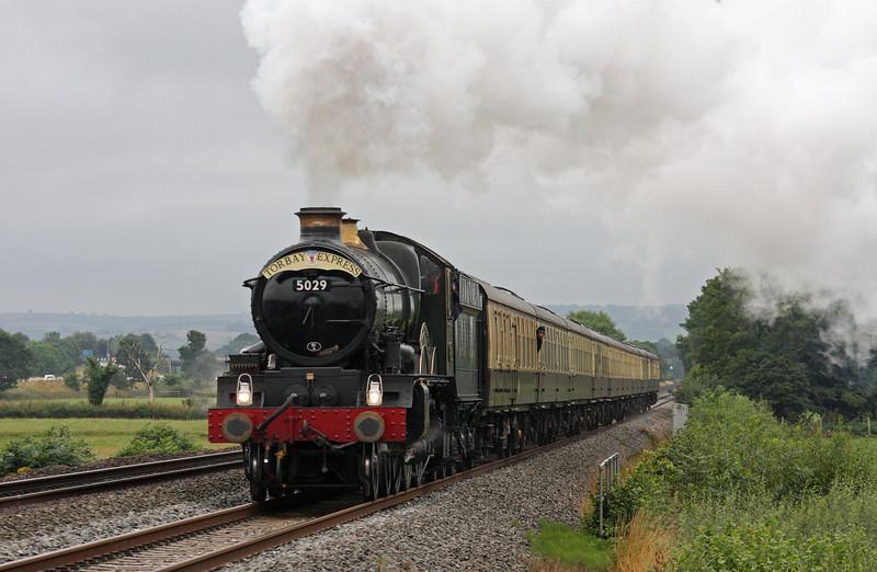5029. 16.50 Kingswear-Bristol Temple Meads, Torbay Express, Pugham Crossing, near Burlescombe, 4-8-13.