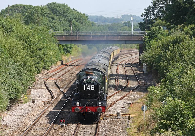 5029/47812, 09.15 Bristol Temple Meads-Kingswear, Torbay Express, Willand, near Tiverton, 14-7-13.