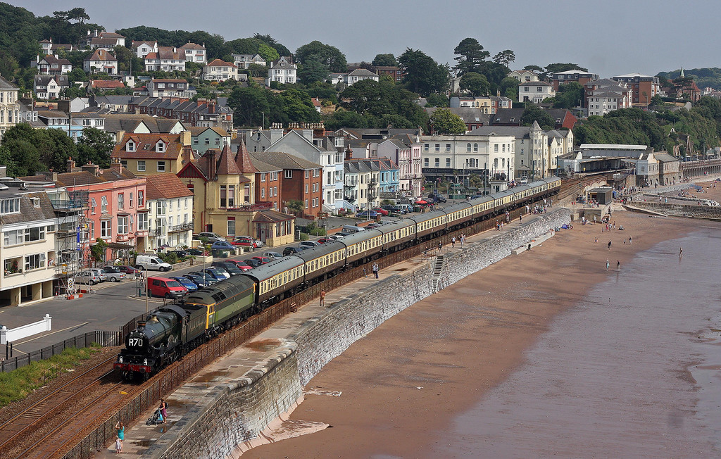 5029/47812, 09.15 Bristol Temple Meads-Kingswear, Torbay Express, Dawlish, 21-7-13.