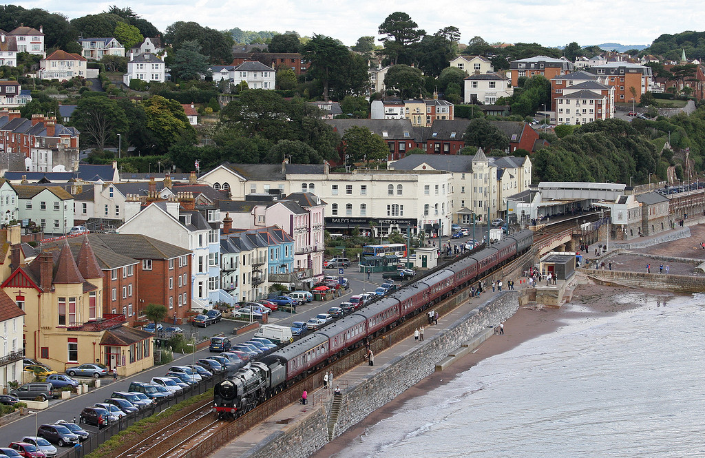 70013, 09.28 Bristol Temple Meads-Par, The Royal Duchy, Dawlish, 8-9-13.