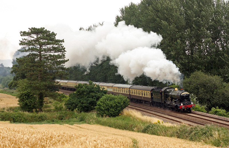 5029. 09.15 Bristol Temple Meads-Kingswear, Torbay Express, Beambridge, near Wellington, 4-8-13.