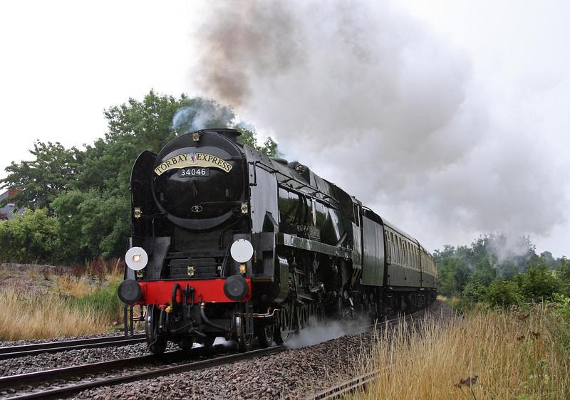 34046, 09.15 Bristol Temple Meads-Kingswear, Torbay Express, Marlands, near Wellington, 18-8-13.