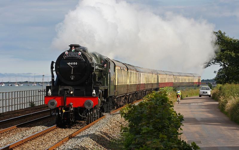 46100, 16.50 Kingswear-Bristol Temple Meads, Torbay Express, Powderham, near Exeter, 3-7-16.