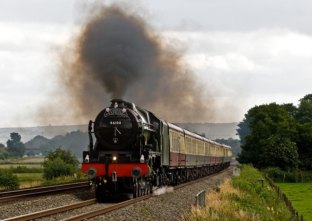46100, 16.50 Kingswear-Bristol Temple Meads, Torbay Express, Pugham Crossing, near Burlescombe, 10-7-16.