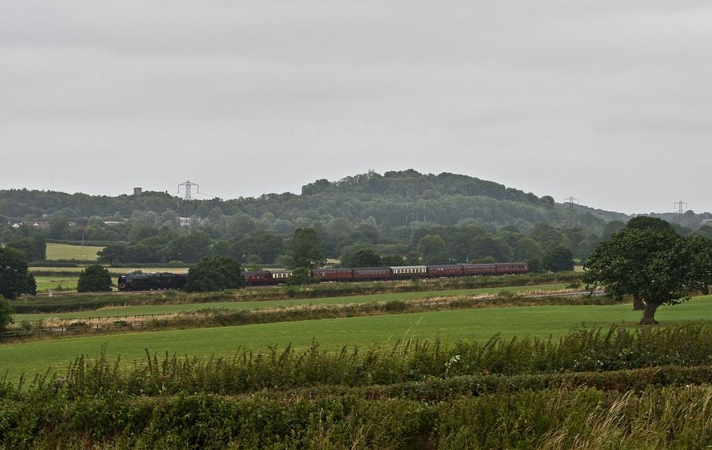 46233, 08.48 Bristol Temple Meads-Par, The Royal Duchy, Pugham Crossing, near Burlescombe, 7-8-16.