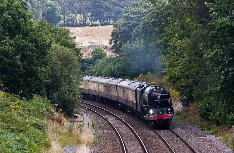 60163, 09.15 Bristol Temple Meads-Kingswear, Torbay Express, Whiteball, 7-8-16.