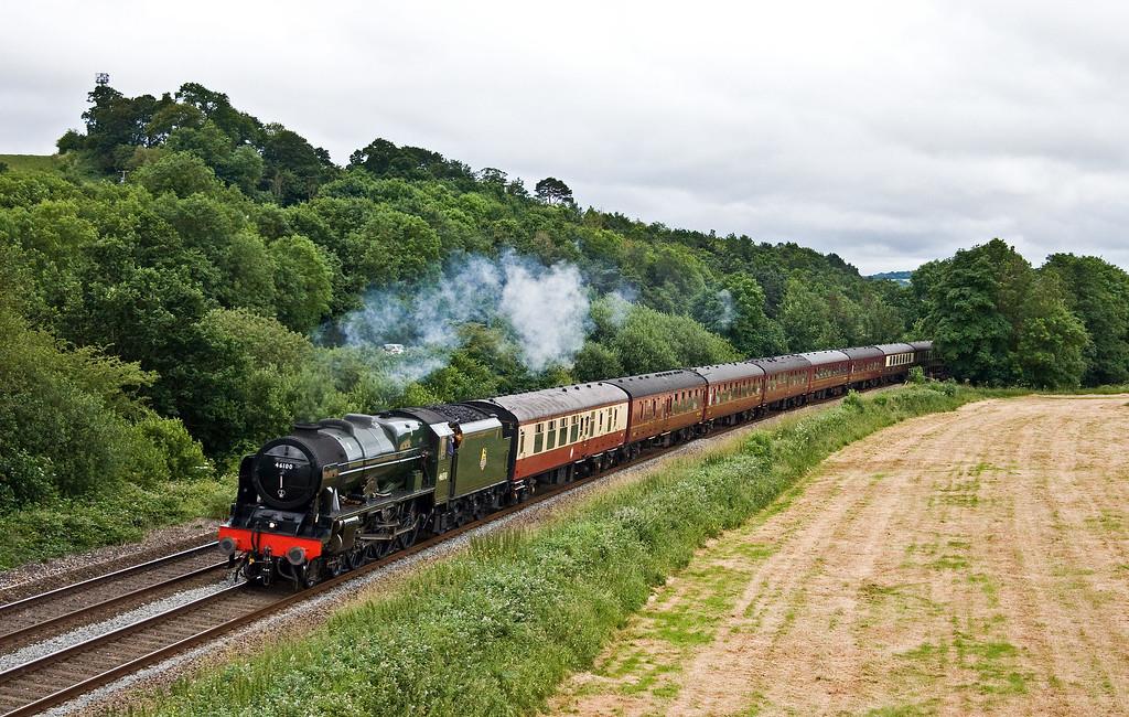 46100/47237, top'n'tail 17.30 Kingswear-Woking, The Dartmouth Express, Cullompton, 24-6-17.