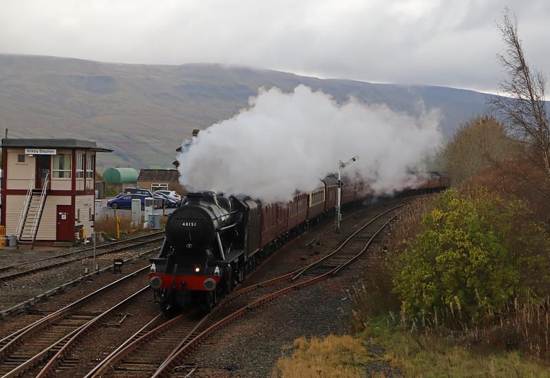 48151, 08.34 York-Carlisle, The Dalesman, Kirkby Stephen, 30-10-18,