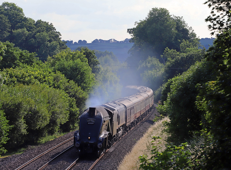 60009 Union of South Africa/66106, 16.50 Kingswear-Bristol Temple Meads, via Westbury, Torbay Express, Whiteball, 15-7-18.