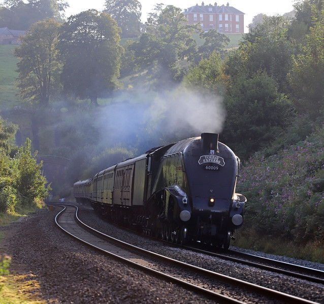 60009, 16.50 Kingswear-Bristol Temple Meads, via Westbury, Torbay Express, Marlands, near Wellington, 8-9-19.