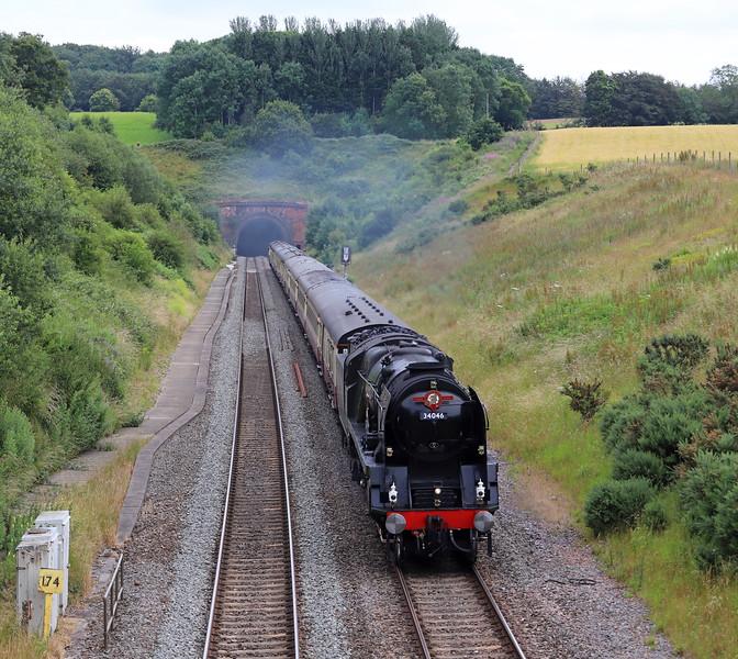 34046, 09.04 Bristol Temple Meads-Kingswear, the English Riviera Express,, Whiteball, 7-7-19.