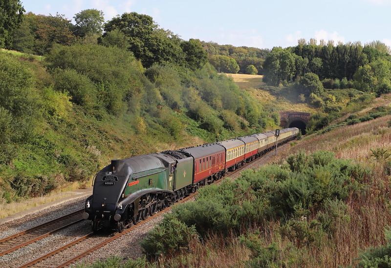 60009, Bristol Temple Meads-Kingswear, via Westbury, Torbay Express, Whiteball, 8-9-19.