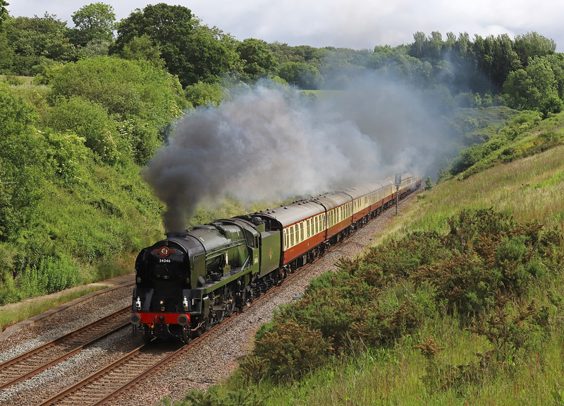 34046,  08.00 Bristol Temple Meads-Kingswear, via Bath and Westbury, the English Riviera Express, Whiteball, 16-6-19.