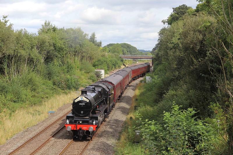 45690, 08.46 Slough-Par, The Royal Duchy, restarting from Tiverton down loop, Willand, near Tiverton, 12-9-21. Last of season.