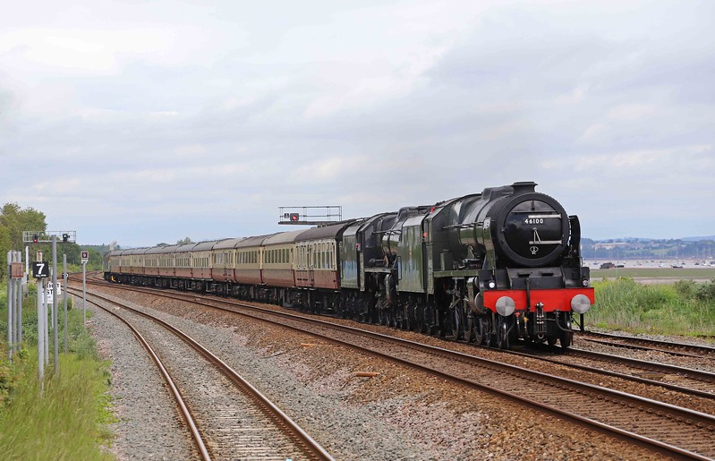 46100/45231 top-and-tail with 47614, 06.00 Solihull (Birmingham)-Plymouth, Devonian Express, Dawlish Warren, 9-6-21.