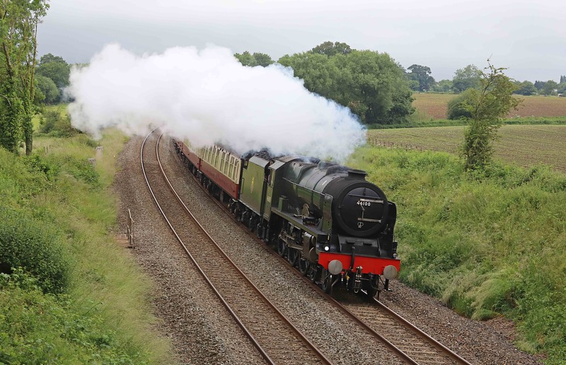 46100/47805, top-and-tail 07.51 Bristol Temple Meads-Kingswear, via Bath and Westbury, The English Riviera Express, Willand, near Tiverton, 20-6-21.