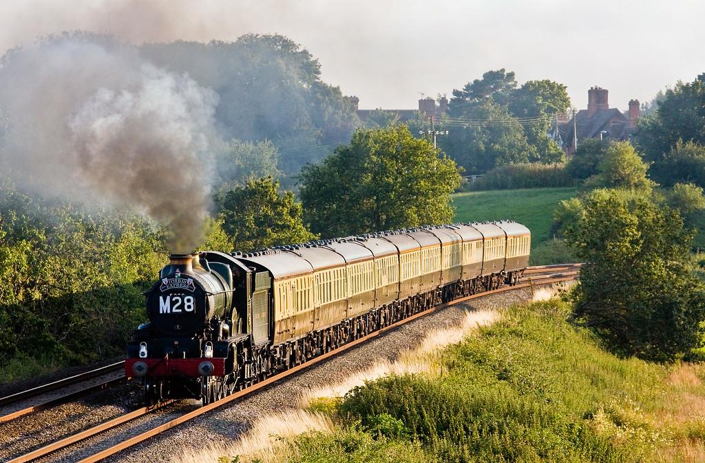 5029, 18.50 Kingswear-Bristol Temple Meads, Torbay Express, Rewe, near Exeter, 20-7-14.
