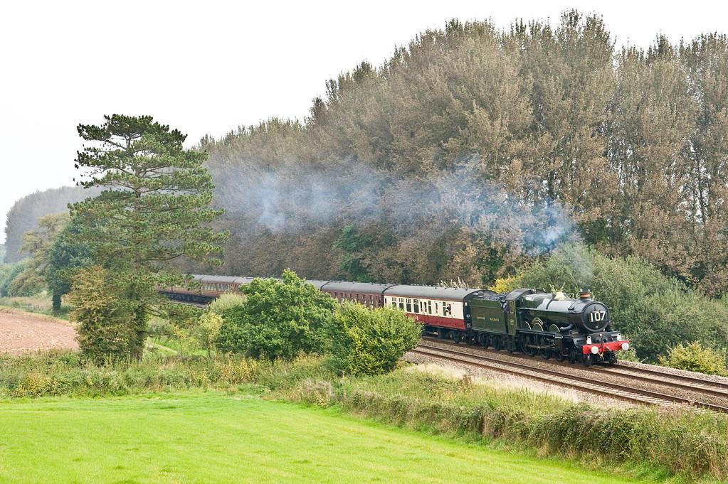 5029, 07.46 Clapham Junction-Kingswear, Cathedrals Express, beambridge,near Wellington,, 16-9-14.
