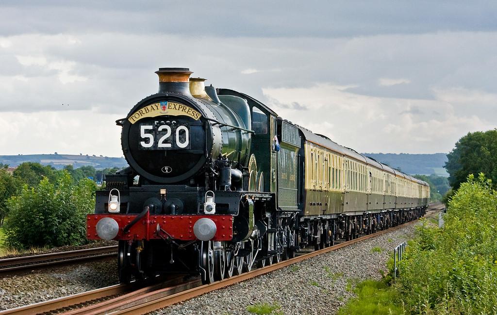 5029, 16.50 Kingswear-Bristol Temple Meads, Torbay Express, Pugham Crossing, near Burlescombe, 3-8-14.