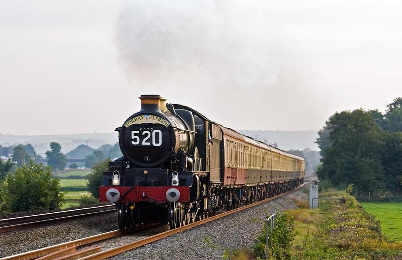 5029, 16.50 Kingswear-Bristol Temple Meads, Torbay Express, Pugham Crossing, near Burlescombe, 21-9-14.