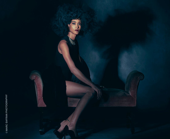 Model: Tiffany Mora, MUA January Green