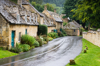 Rainy Street in Bibury