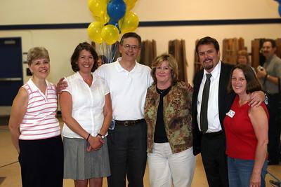 "38 Years Later | Surprised by ""kids"" from John's first class at his retirement: Cindy (Warndahl) Croslin, Liz (Garcia) Holmgren, Barbara Walker, Tim Cobb and Dale Millett"