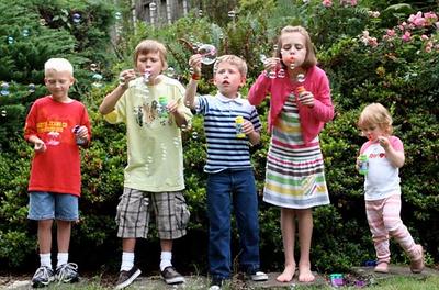 Cousins Blowing Bubbles