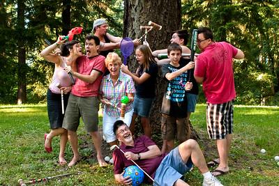 Evans Family Whamball Game   Mt. Tabor Park, Portland, Oregon