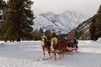 Winter Sleigh Ride   Leavenworth, Washington