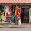 Colorful display in a souvenir shop in La Fortuna, Costa Rica.