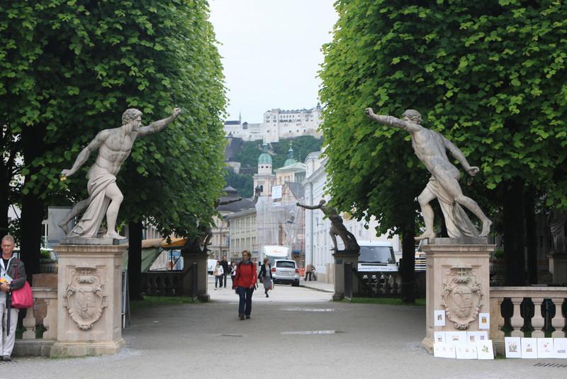 Exiting Mirabelle gardens.