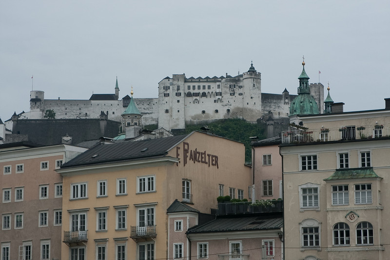 View of HohenSalzburg Fortress from across the river.