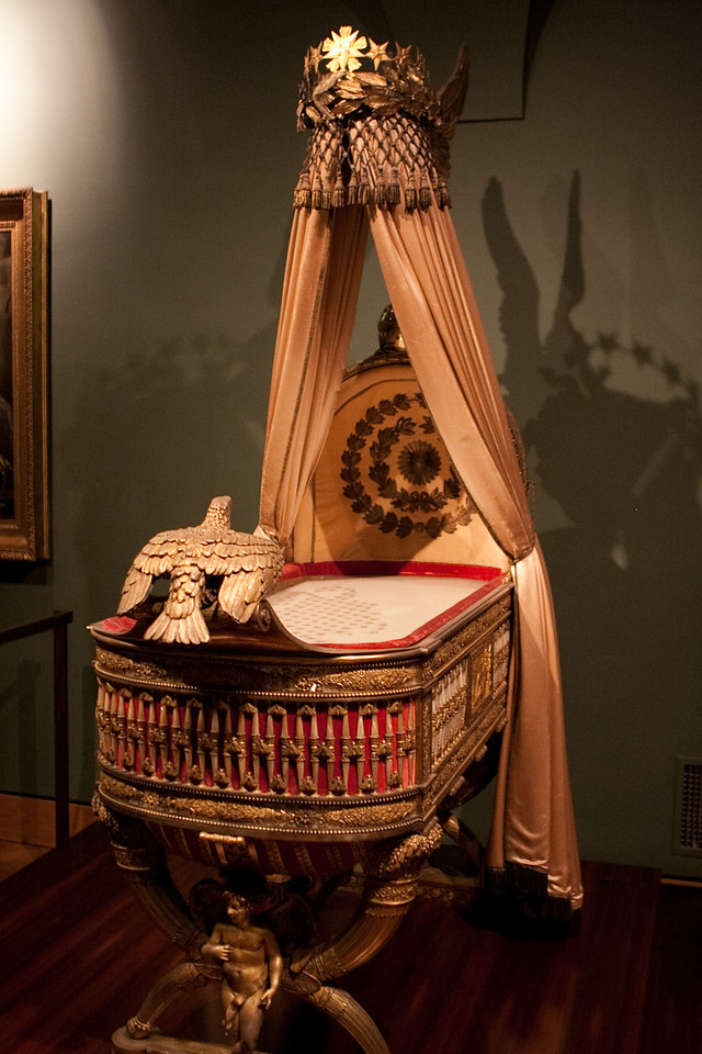 Cradle of the king of Rome presented to Napoleon's son (it was never used as a cradle, just a symbol of royalty)