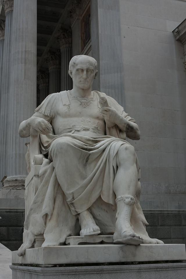My man - Julius Caesar - in front of the parliament in Vienna.