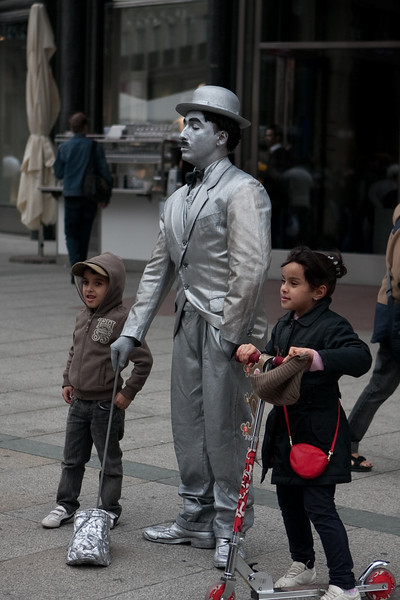 Street performer, looked & acted very much like Chaplin.